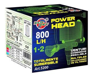 Cabeza De Poder 800 L/h Sumergible Acuarios 40-60 Litro 5200