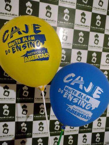 Imagem 1 de 5 de Balões Personalizados 100un 130.00 $