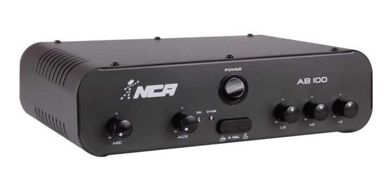 Amplificador Potência Nca Ab100 R4 100wrms Frete Gratis!