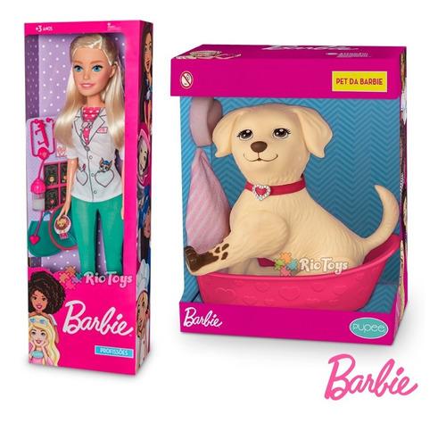 Barbie Veterinária Brincar E Cachorrinho Pet Menina Infantil