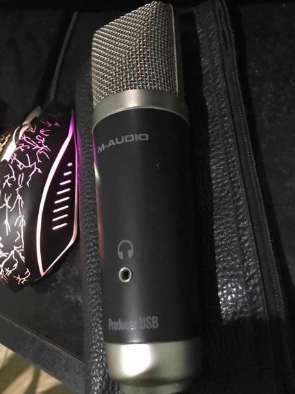 Microfone Condensador Pro M-audio Avs + Pro Tools