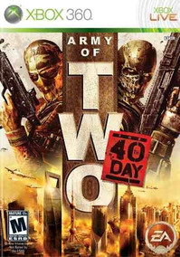 Army Of Two The 40th Day Xbox 360 Original Frete R$12
