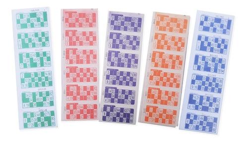 Cartones Bingo Loteria X 2016 X5 Series De Colores Distintos