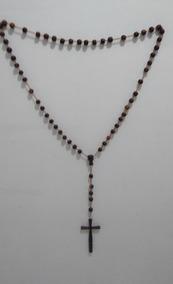 Crucifixo, Terço De Madeira, Jacarandá Da Bahia, Lindo!