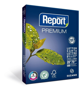 Resmas Report Carta 75 Grs Caja X 10 Unidades