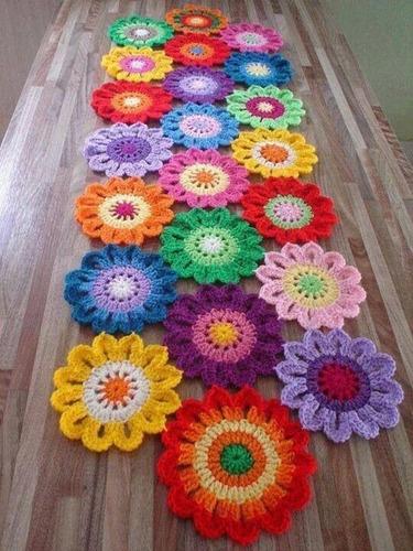 Imagen 1 de 5 de Caminos De Mesa Crochet De 1,50m