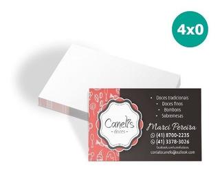 Cartão De Visita 48x88mm 250g 4x0 Verniz Total Frent 500uni