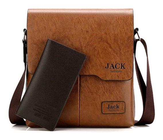Bolsa Carteiro Moderna Masculina Com Carteira Premium Jack