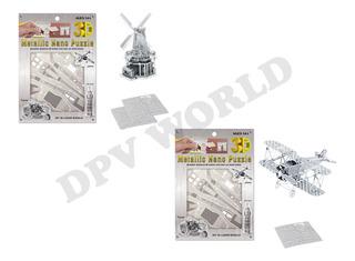 Rompecabezas 3d Metalico Figuras Armables