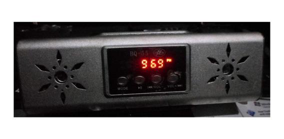 Rádio Fm, Toca Mp3 Do Pendrive E Do Cartão De Memória.