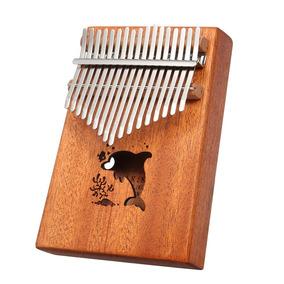 17 Teclas Porttil Polegar Piano Bolso Instrumento Kalimba