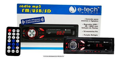 Imagem 1 de 7 de Rádio Mp3 Fm Usb Sd Equalizador Bluetooth Controle Remoto