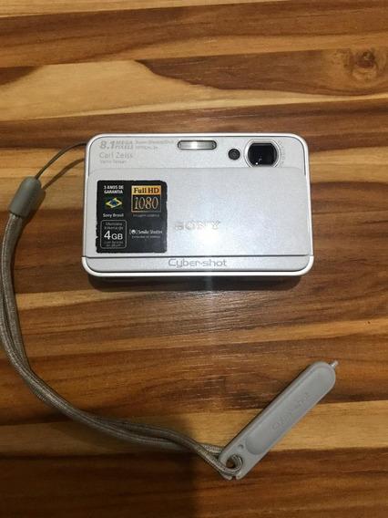 Câmera Sony Dsc-t2 Usada - Cor Prata - Com Cartão De 32mb.