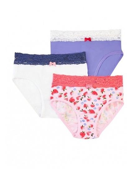 Paquete De 3 Panties Basicas P/niña Ilusion 23885 C/glitter