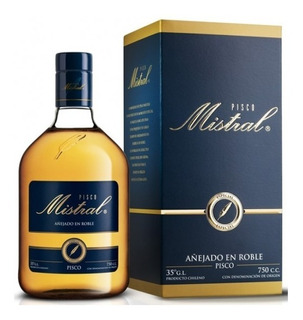 Licor Pisco Mistral Especial 35° 750ml Roble Americano