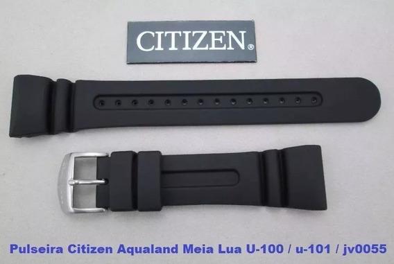 Pulseira P/ Aqualand Citizen U100 U101 U107 Jv0055 Meia Lua