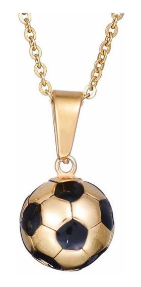 Collar Balon Futbol Copa Acero Inoxidable Hipoalergenico
