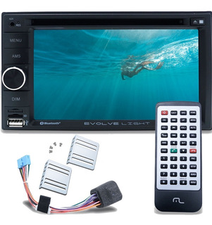 Dvd Multimidia 2 Din Multilaser Dvd Evolve Bluetooth Usb