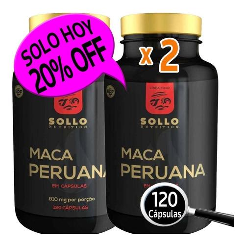 Maca  240 Cap. Antioxidante, Longevidad Y Calidad De Vida.