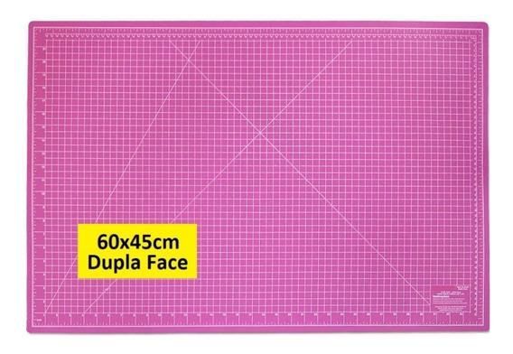 Base De Corte Rosa 45x60 Para Patchwork Scrapbook Top