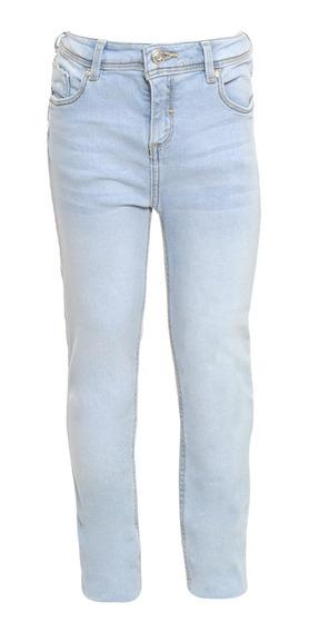 Jeans Corte Skinny De Niñas C&a Stretch Básicos