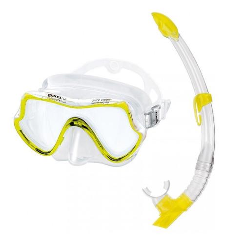 Kit De Mergulho Máscara E Snorkel Mares Pure Vision - Am