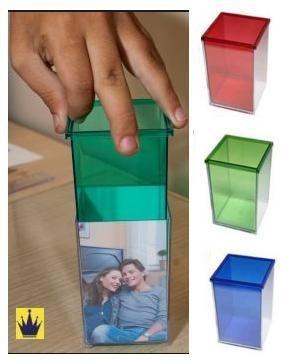 10 Porta Caneta E Lápis Quadrado Acrilico - P/ Personalizar