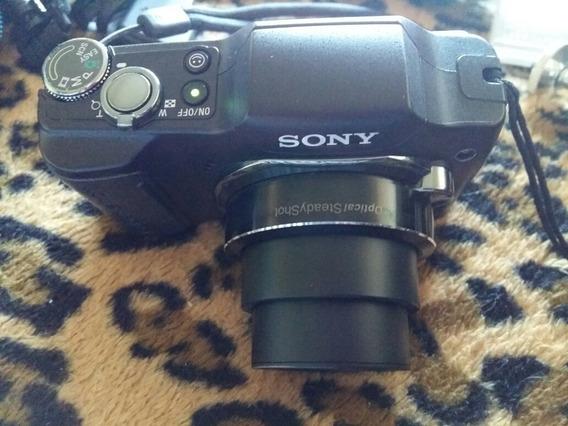 Câmera Semi Profissional Sony, 10x Zoom Óptico