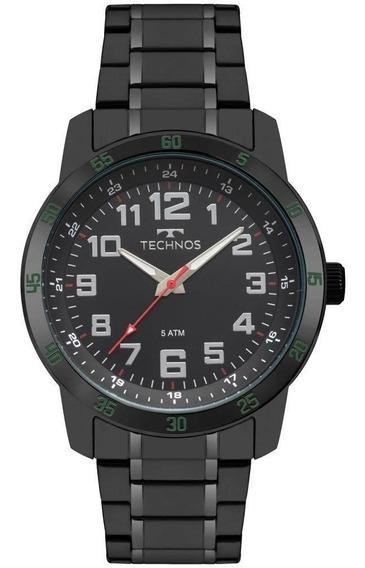 Relógio Masculino Technos 2035mnz/4p Aço Preto Promoção
