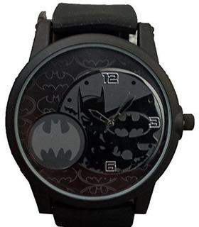 Reloj Analógico Batman Hombre De Dc Comics Negro Bat9356