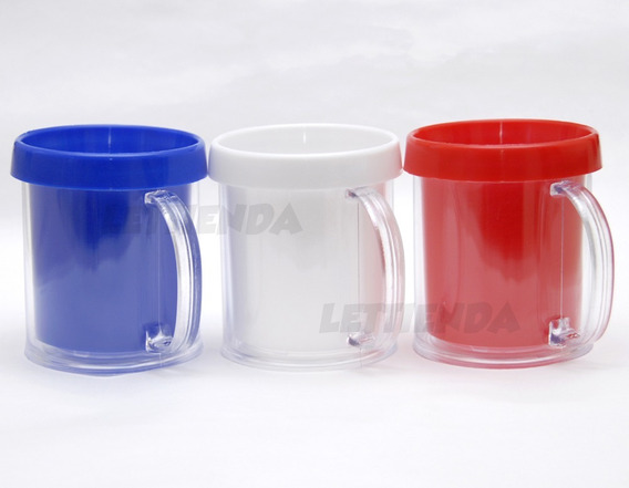 Taza Plastico Portafoto - Souvenir Oferta Precio X 40 Tazas