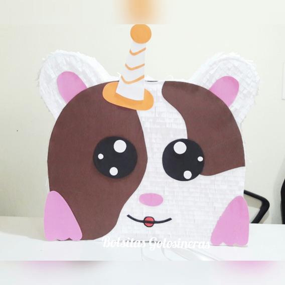 Piñata Artesanal Hamsters Kawai Personali Cumpleaños