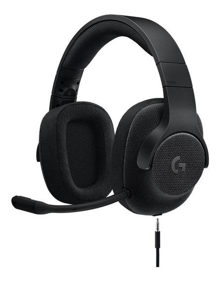 Fone de ouvido gamer Logitech G433 black