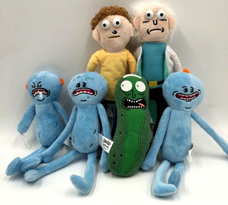 Peluche Rick And Morty 26cm Pepino 20cm Precio X Unid Unicos