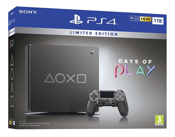 Consola Playstation Ps4 Slim Days Of Play Limited Edition 1t