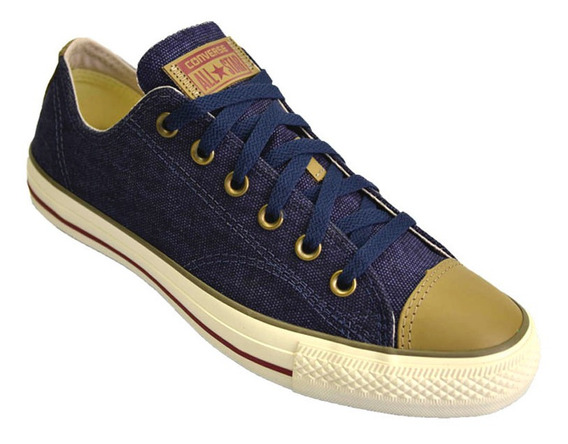 Zapatilla Converse All Star Low Lino Original Unisex Azul