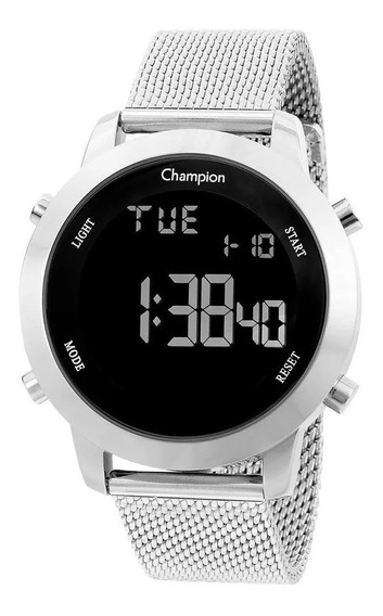 Relógio Champion Feminino Digital Prata Led Original