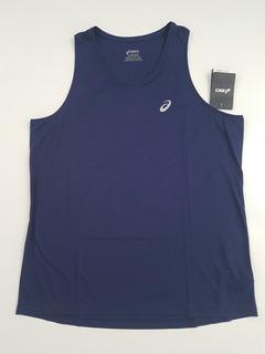 Playera Camiseta Asics Azul Sin Manga - Oferta