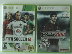 2 Jogos Xbox 360: Fifa Soccer 12 E Pes 10