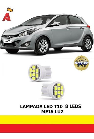 Par Led T10 Lanterna Meia Luz Posição Hyundai Hb20