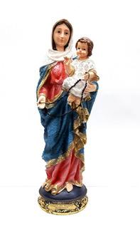 Virgen Del Rosario 30cm Poliresina 530-779456 Religiozzi