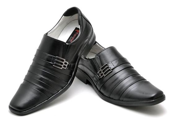 Sapato Anti-stress Masculino Conforto Couro Legítimo Social