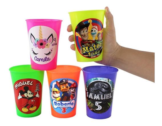 10 Vasos Fiesteros Personalizados Recuerdo ¡reutilizables!
