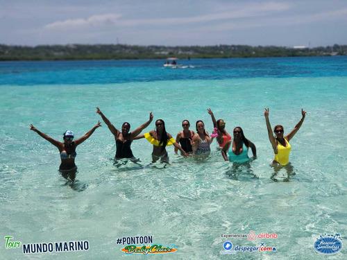 Tour Mundo Marino #pontoonbabychar No. 1 En San Andres Isla