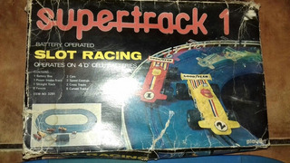 Antiguo Scalectric Supertrack 1 Slot Racing
