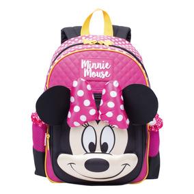 Mochila De Costa Infantil Menina Media Minnie 19y 65297 Rosa