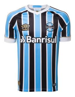 Camisa Oficial Masculina Umbro Grêmio Of I 2018 Com Número