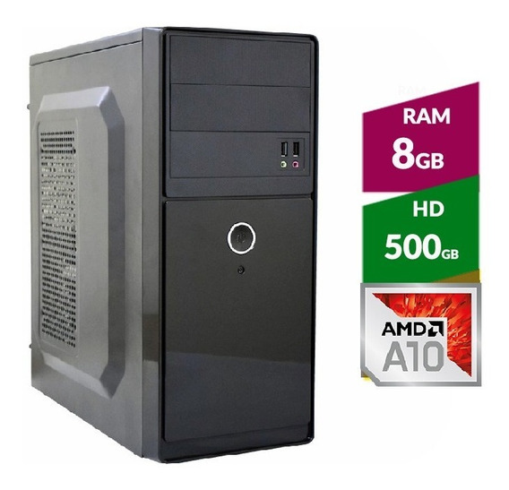 Pc Amd A10 9700 Bristol Ridge + Hd 500gb + 8gb Ddr4 2400mhz