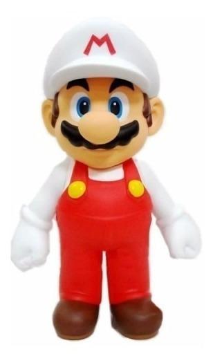 Mario Bros Boneco Edição Especial Colecionavel Branco
