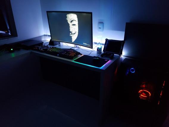 Desktop Setup Completo - Pc Gamer + Periféricos Full Razer